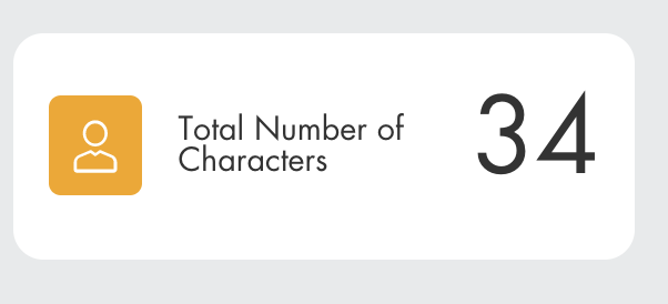 Total cast of characters