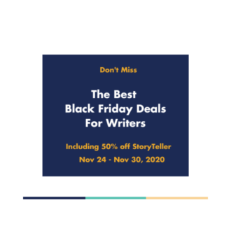 Black Friday 2020 Deals for Fiction Writers