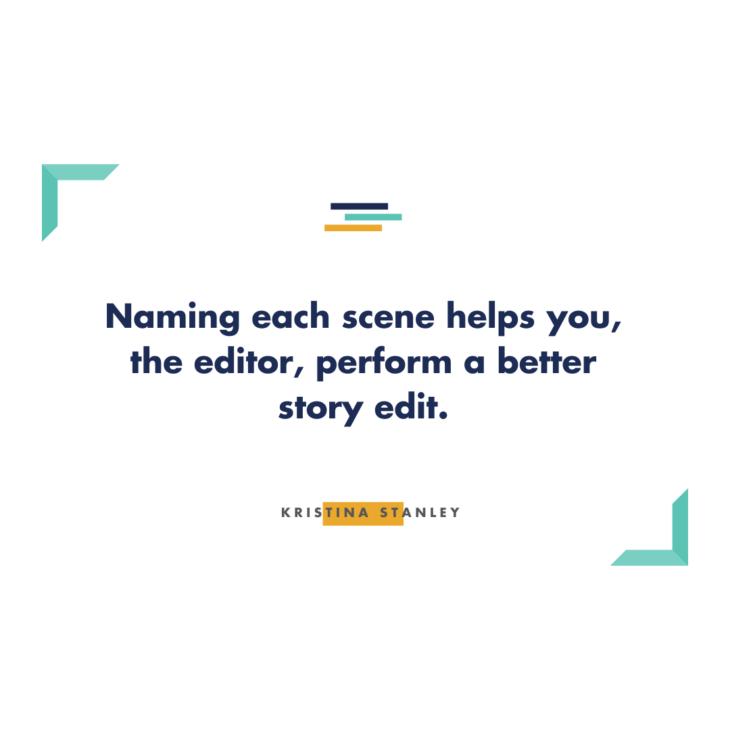 StoryCoach Scene Naming