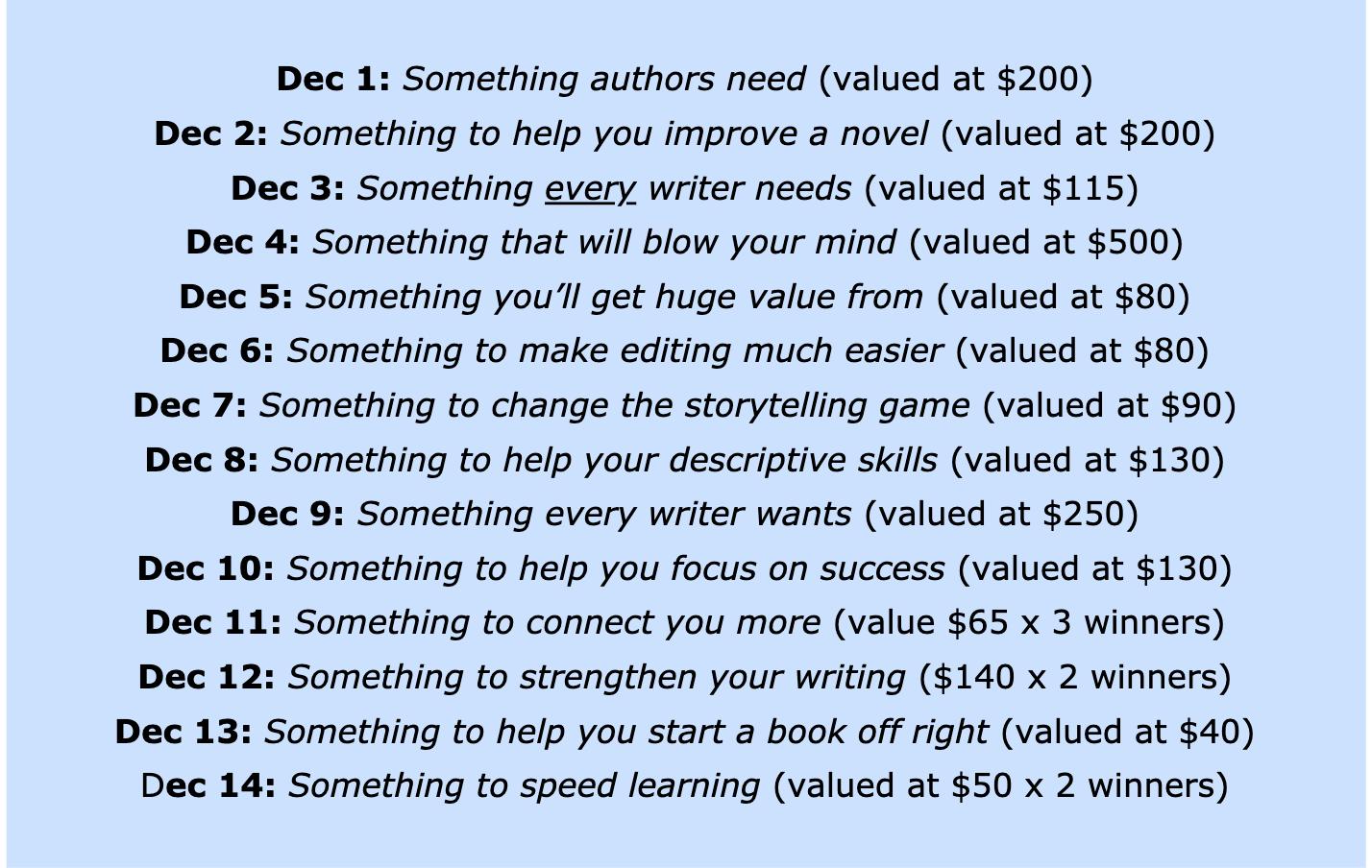 Writes Helping Writers