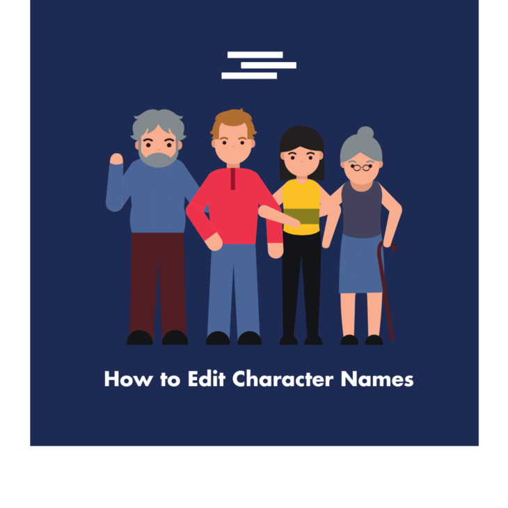 Editor's view of Character Names