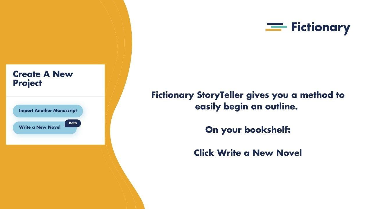 Start a novel outline